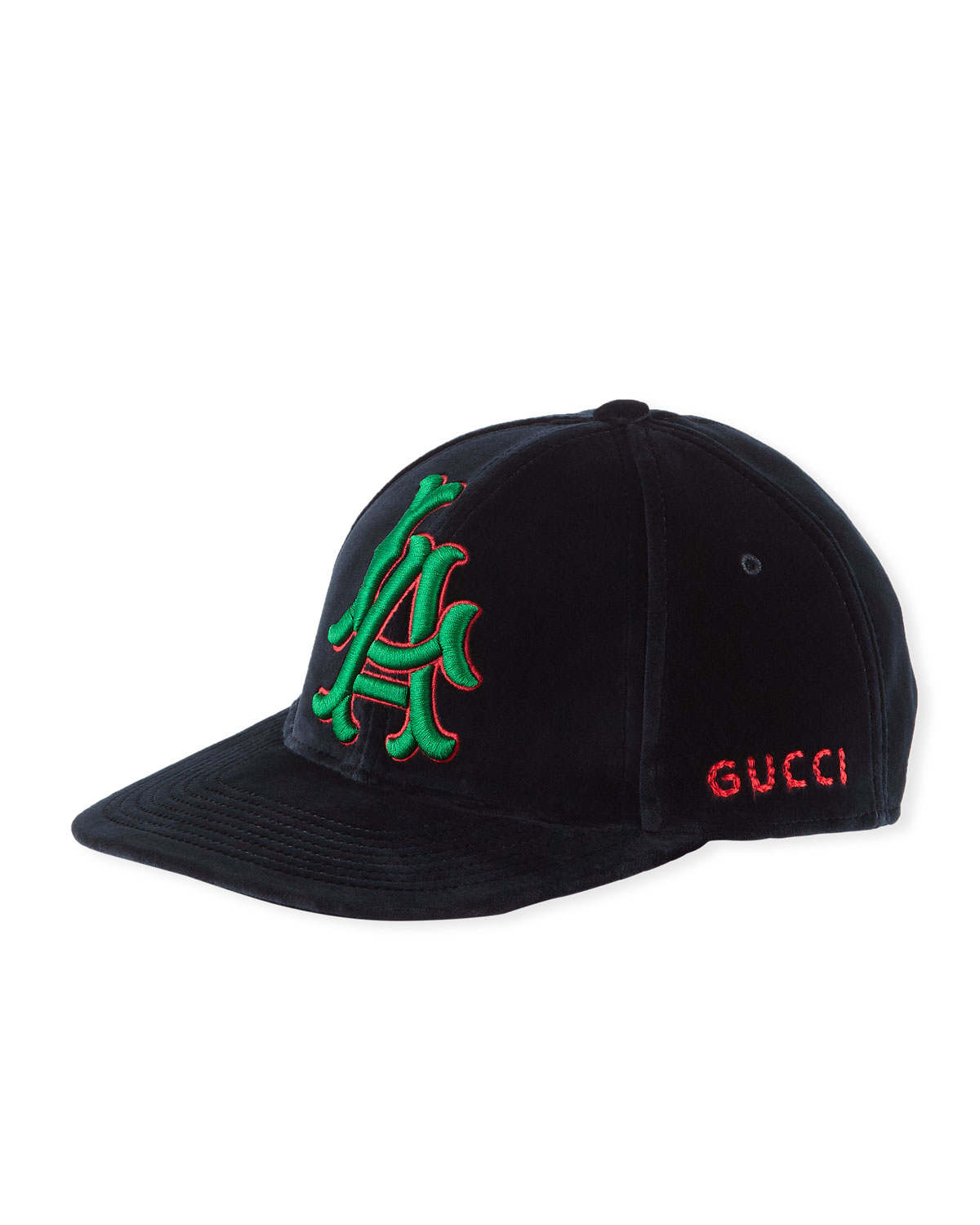 94813af9933ce Gucci LA Angeles MLB Velvet Baseball Hat