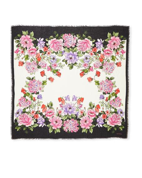 Rising Flower Modal-Silk Shawl