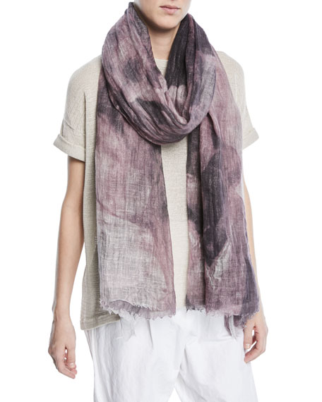 Brunello Cucinelli Printed Cloud Linen Scarf