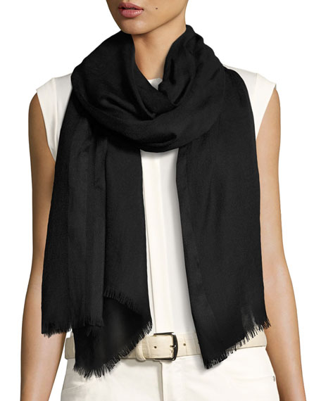 Shadow Striped Cashmere & Silk Stole