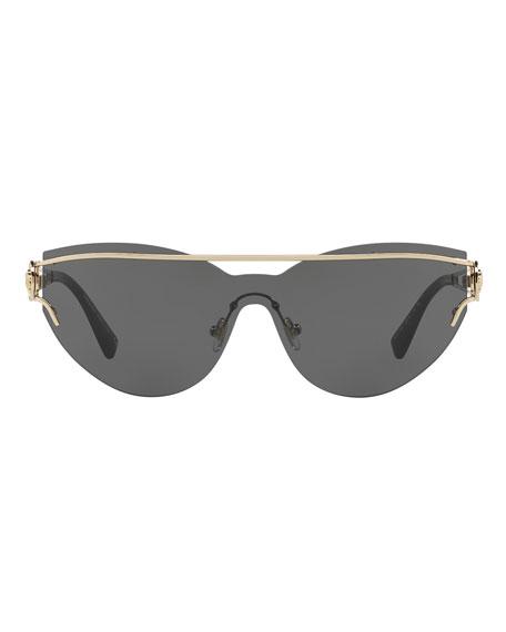 Rimless Cat-Eye Open-Temple Sunglasses