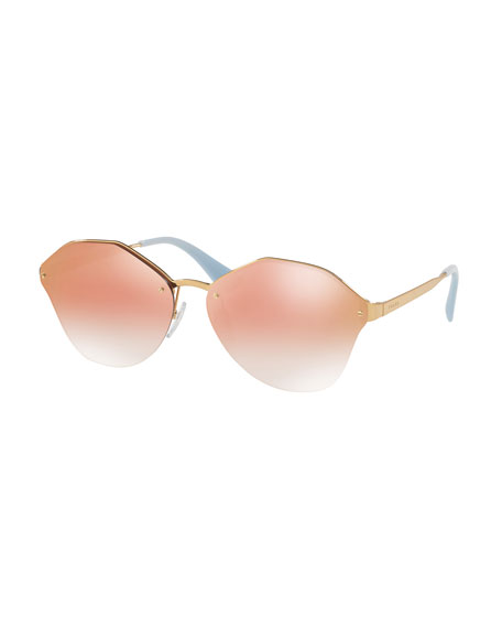 Prada Mirrored Round Sunglasses