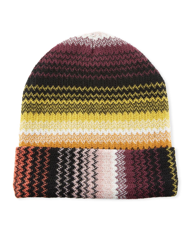 a93574f4cb9 Missoni Accessories Zigzag Wool-Blend Beanie Hat