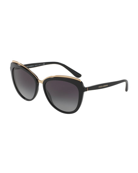 Dolce & Gabbana Metal-Trim Gradient Cat-Eye Sunglasses