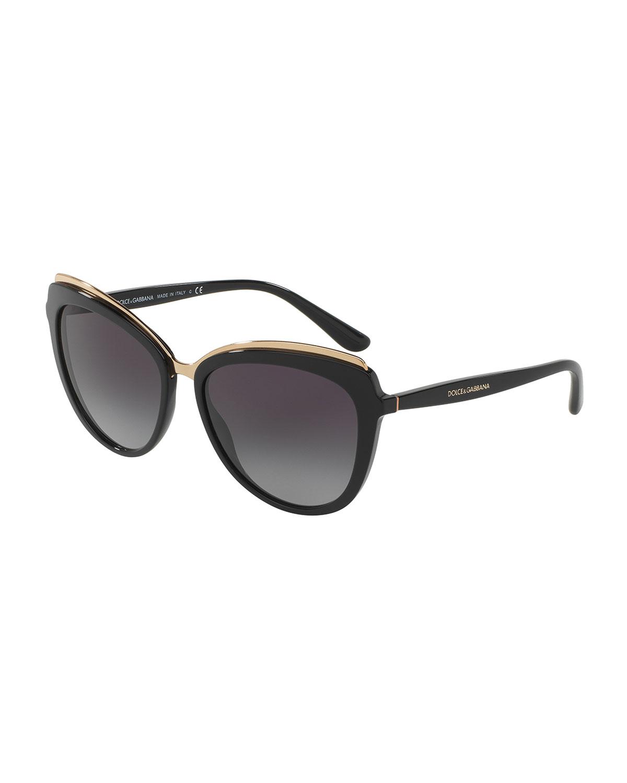 be3d5c6e5cbf Dolce   Gabbana Metal-Trim Gradient Cat-Eye Sunglasses