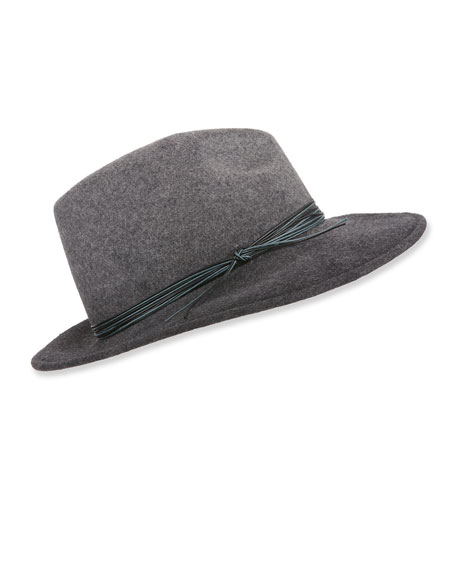 Marzi WOOL FEDORA HAT W/ OMBRE ROPE DETAIL