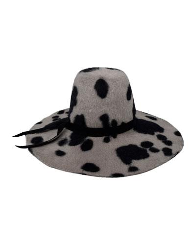Aliyah Floppy Spotted felt Hat