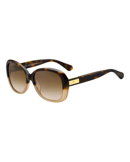 kate spade new york judyann polarized butterfly sunglasses