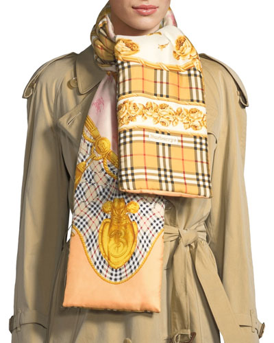 Archive Prints Puffer Silk Scarf