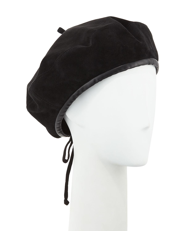Eric Javits Kate Suede Adjustable Beret Hat  1bcca3201f9