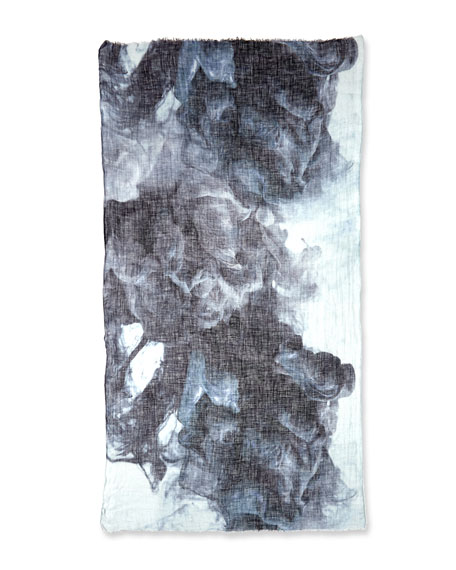 Printed Cloud Linen Scarf
