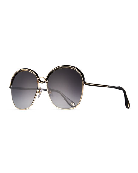 Givenchy Round Trimmed Metal Sunglasses