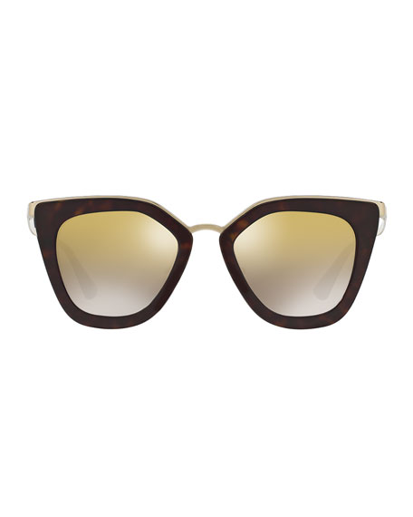 Mirrored Square Cat-Eye Sunglasses