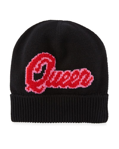 Queen D&G Knit Beanie Hat