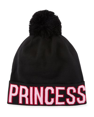 Princess D&G Knit Pompom Beanie Hat