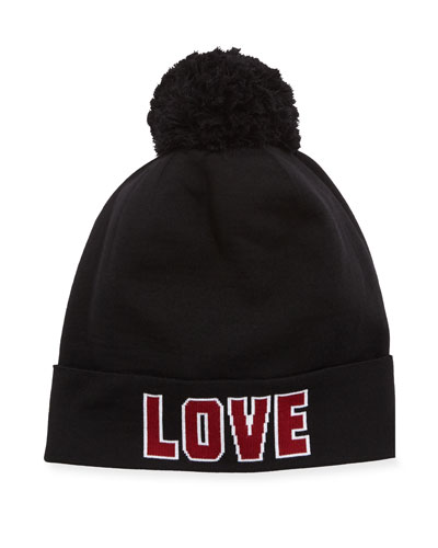 Love D&G Knit Pompom Beanie Hat