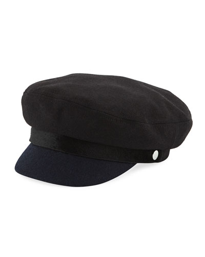 Cotton Fisherman Cap with Calfskin Band