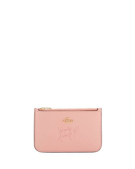 Coach x Selena Gomez Colorblock Card Case