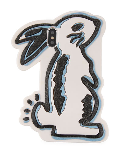 x Selena Gomez Glitter Bunny Phone Case