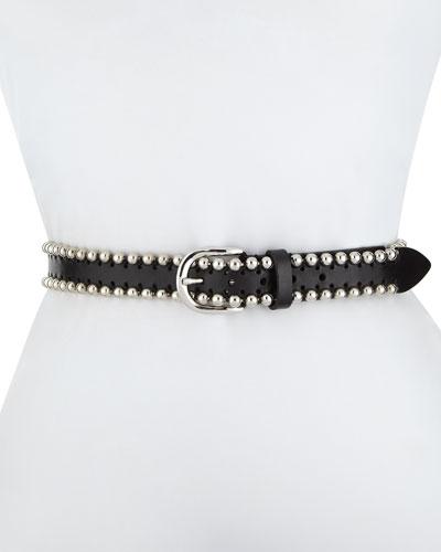 Tokky Beaded Leather Belt