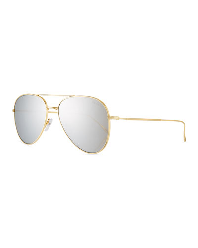 Wooster Mirrored Aviator Sunglasses