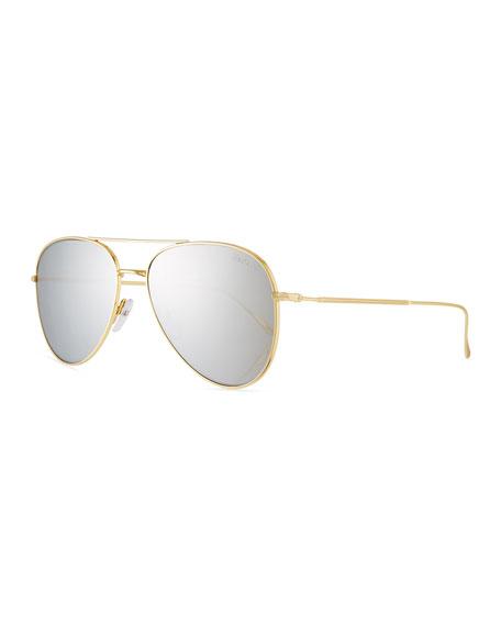 Illesteva Wooster Mirrored Aviator Sunglasses