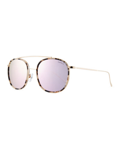 Mykonos Ace Mirrored Aviator Sunglasses