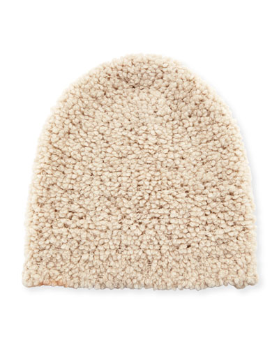 Solid Plush Beanie Hat