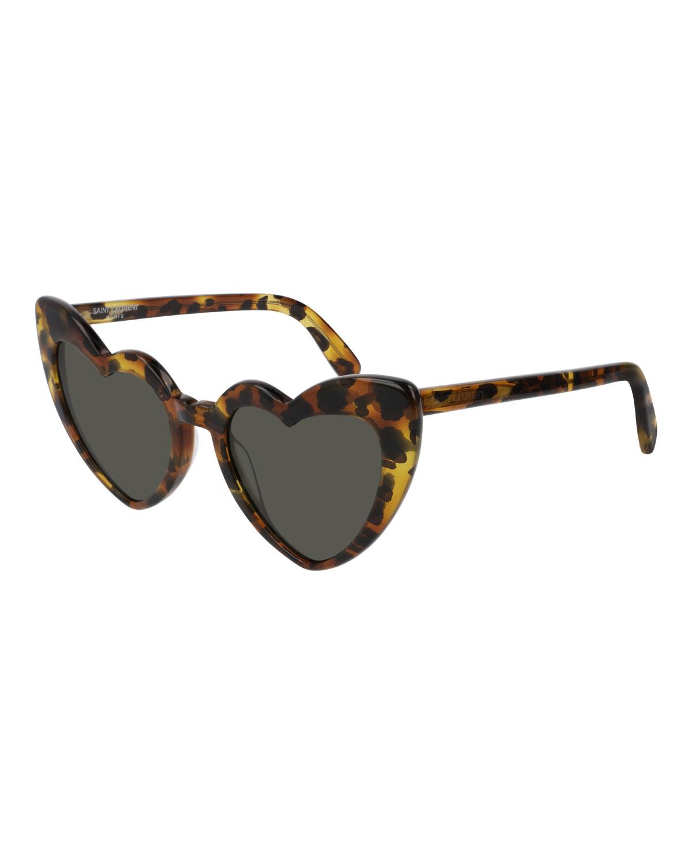 9e6527e2810 Saint Laurent Lou Lou Oversized Heart Sunglasses