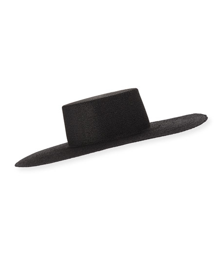 Janessa Leone SUZANNE WIDE BRIM STRAW HAT