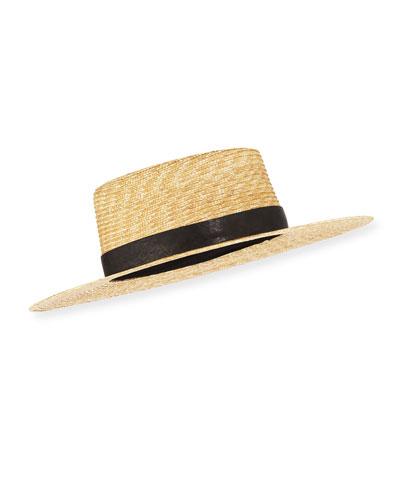 Klint Straw Fedora Hat