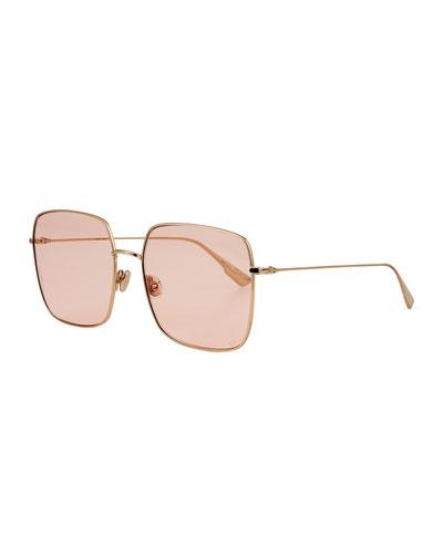 Diostellaire1 Square Metal Sunglasses