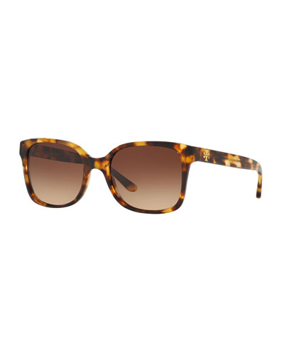 Square Acetate Double-T Sunglasses