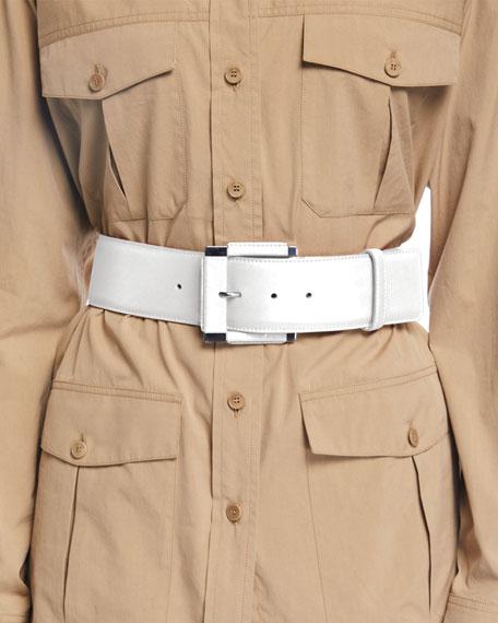 Loro Piana Wide Calfskin Leather Belt