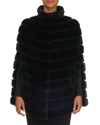 Quilted Mink Fur Cape
