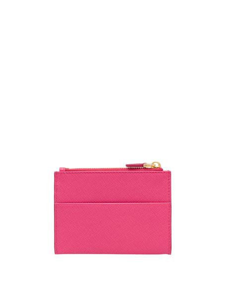 Prada Saffiano Card Case With Zip Compartment