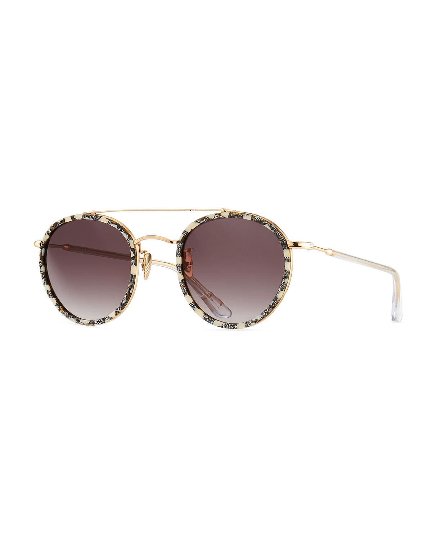 a3fb4b90dc5 KREWE Poydras Round Acetate   Metal Sunglasses
