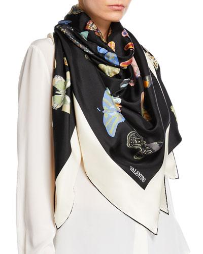 Butterfly Silk Shawl