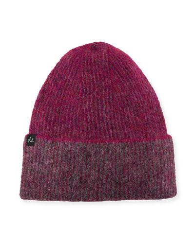 Jonie Two-Tone Alpaca-Blend Beanie Hat