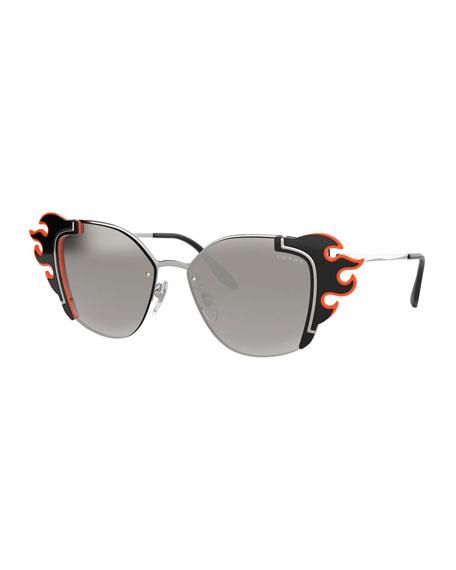 Prada Cat-Eye Flame Sunglasses