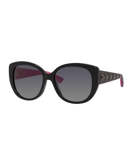 b0a7566a9836 Dior Lady 58Mm Cat Eye Sunglasses - Black