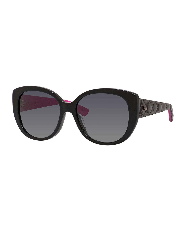 ddb9b82cf12 Dior Lady 1 Oversized Cat-Eye Sunglasses