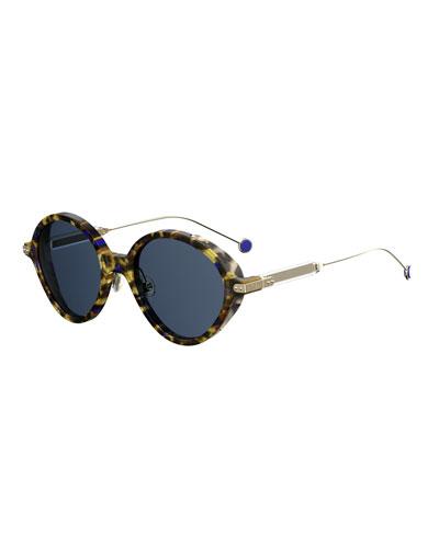 dior mirrored sunglasses celebs dior umbrags round printed sunglasses at neiman marcus