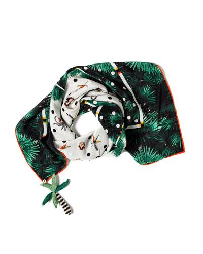 Aloha Printed Silk Scarf