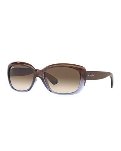 Gradient Nylon Rectangle Sunglasses