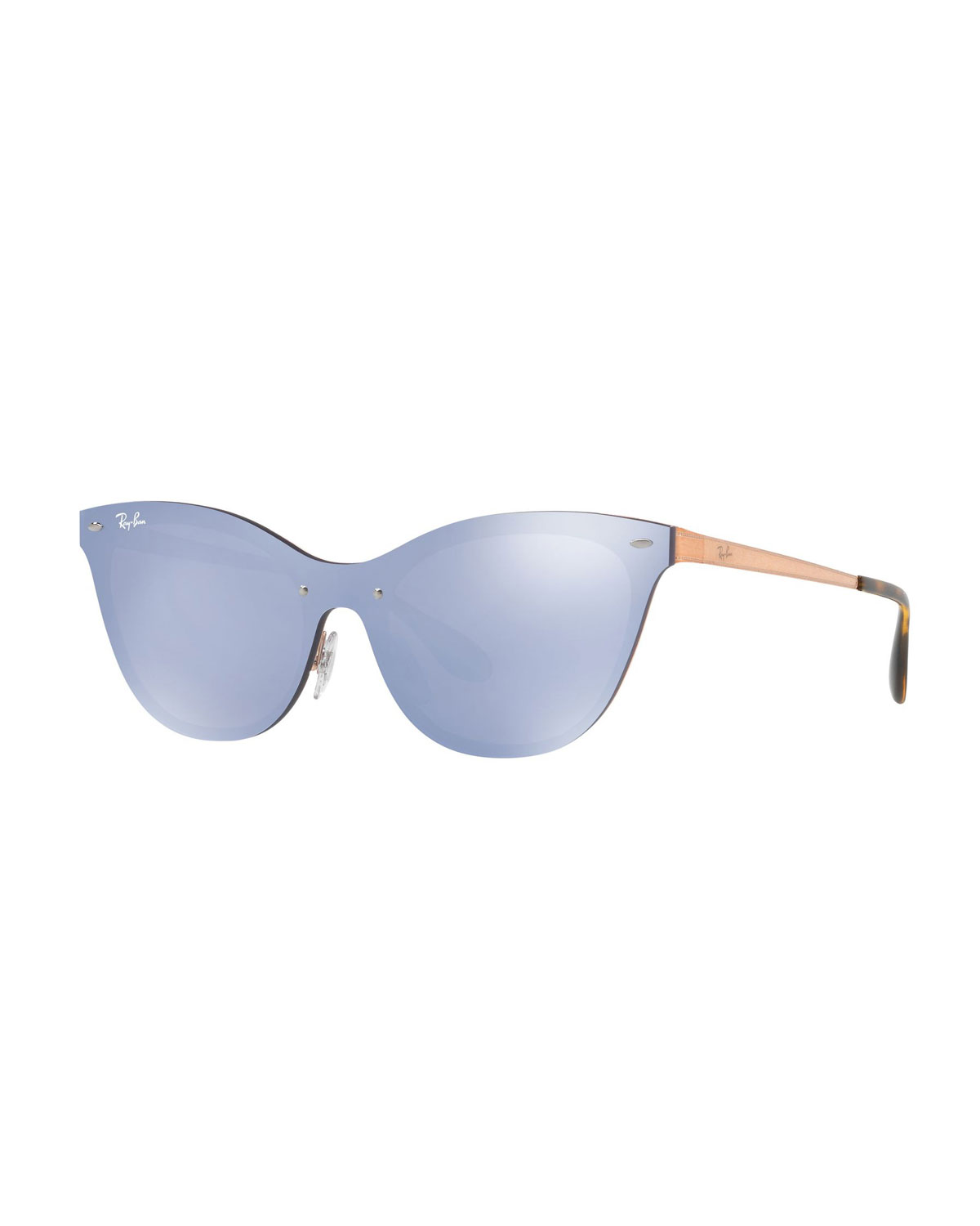11cbcf00c9 Ray-Ban Mirrored Shield Cat-Eye Sunglasses