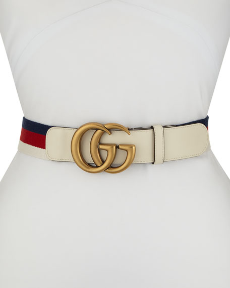 Gucci GG Marmont Web Belt