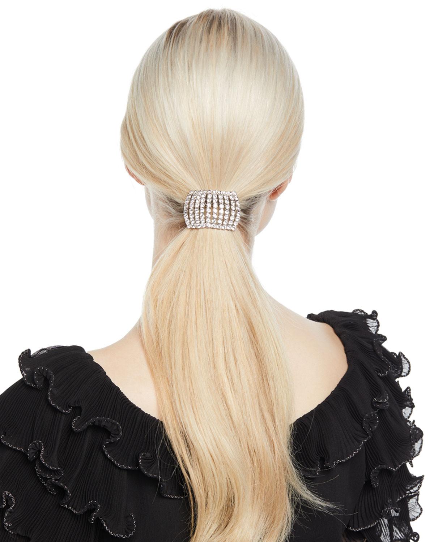 Jennifer Behr Calva Swarovski Crystal Cuff Ponytail Holder  c09328acc13