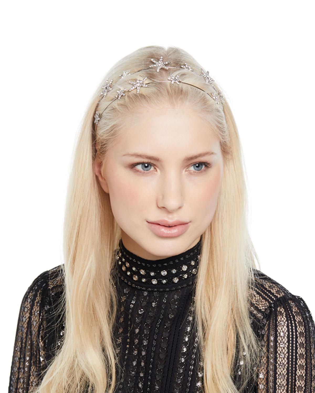 Jennifer Behr Cosima Swarovski Crystal Star Bandeaux Headband ... 9d6b88648a4