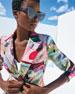 Loewe Semi-Transparent Acetate Cat-Eye Sunglasses w/ Leather Trim